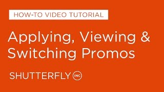 How to Apply, View, Change Promotions on Shutterfly MD quality image