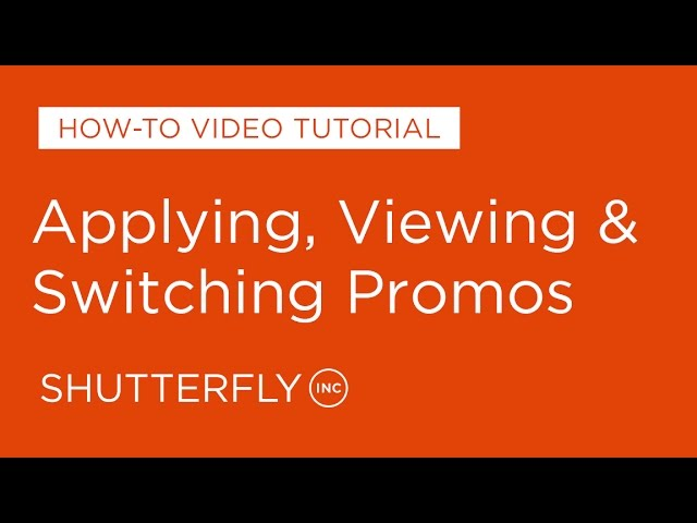 How to Apply, View, Change Promotions on Shutterfly HQ quality image