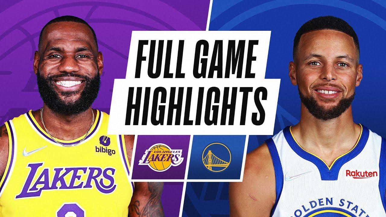 LAKERS at WARRIORS NBA PRESEASON FULL GAME HIGHLIGHTS October 8, 2021 HD quality image