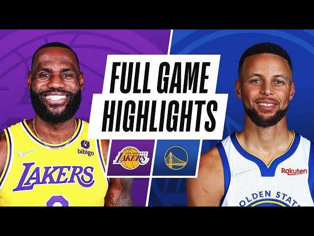 LAKERS at WARRIORS NBA PRESEASON FULL GAME HIGHLIGHTS October 8, 2021 HQ quality image
