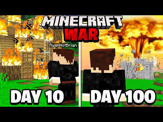Surviving 100 Days in a Minecraft WAR.. here's what happened HQ quality image