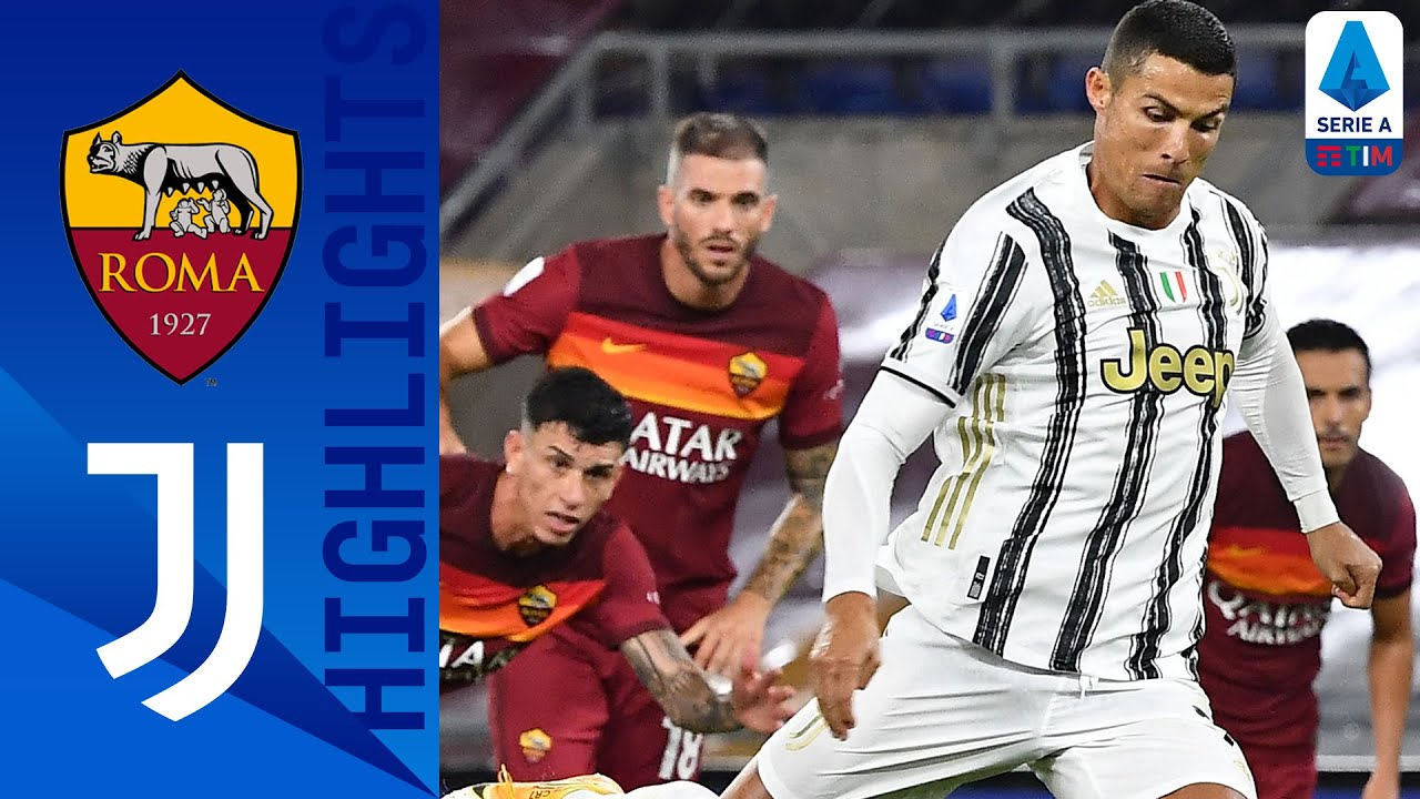 Roma 2-2 Juventus Ronaldos Brace Rescues a Point for Juventus! Serie A TIM HD quality image