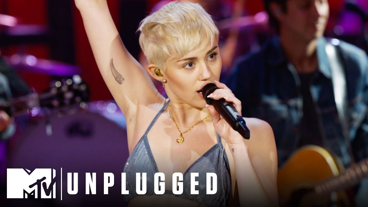 Miley Cyrus Performs Why'd You Only Call Me When You're High? Miley Cyrus Unplugged HD quality image