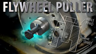 EASY Flywheel Puller... using ONLY industrial lathe and milling machine!!! Screenshot