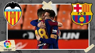 Valencia vs FC Barcelona LALIGA HIGHLIGHTS 5/02/2021 beIN SPORTS USA MD quality image