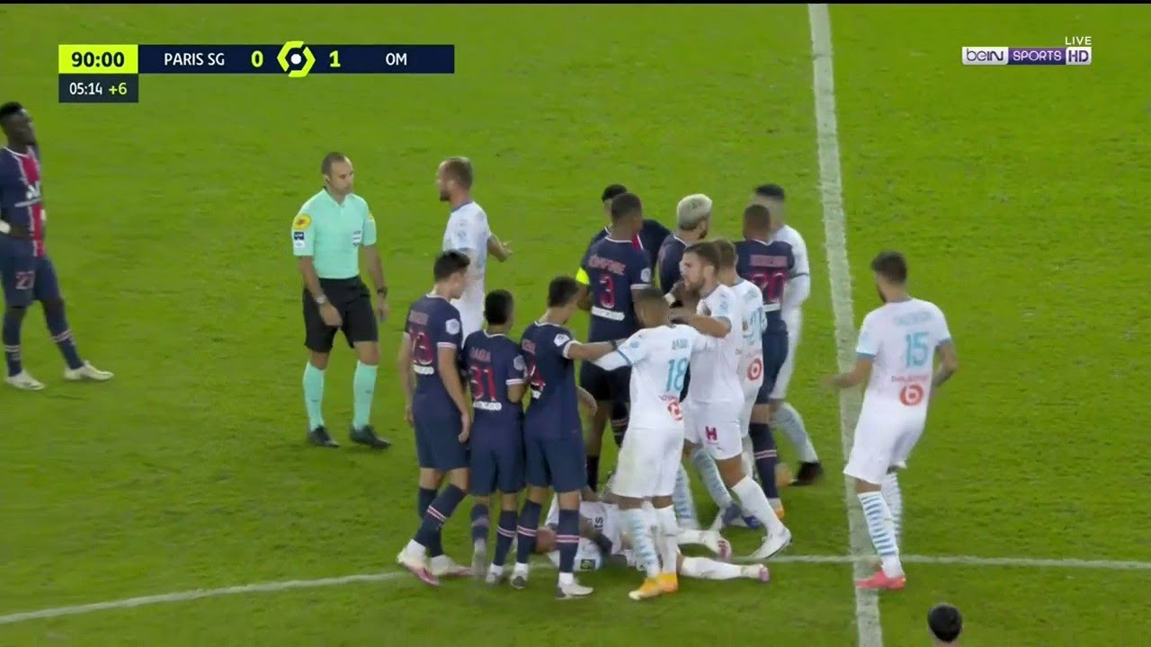 PSG vs Marseille Brawl (5 Red Cards) HD quality image