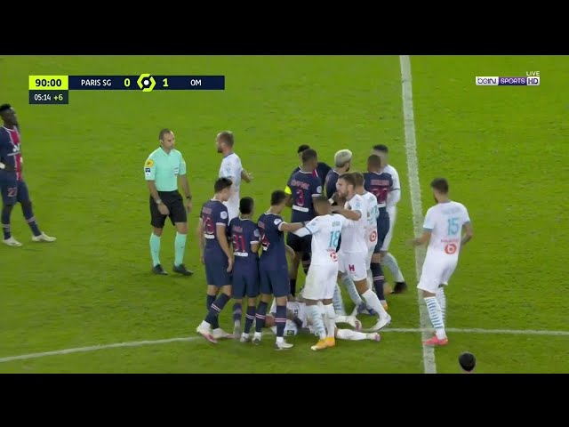 PSG vs Marseille Brawl (5 Red Cards) HQ quality image