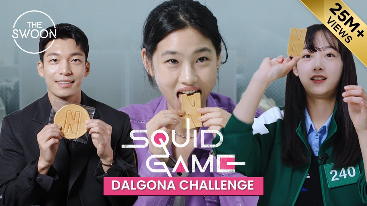 Squid Game stars take on the Dalgona Challenge [ENG SUB] HD quality image