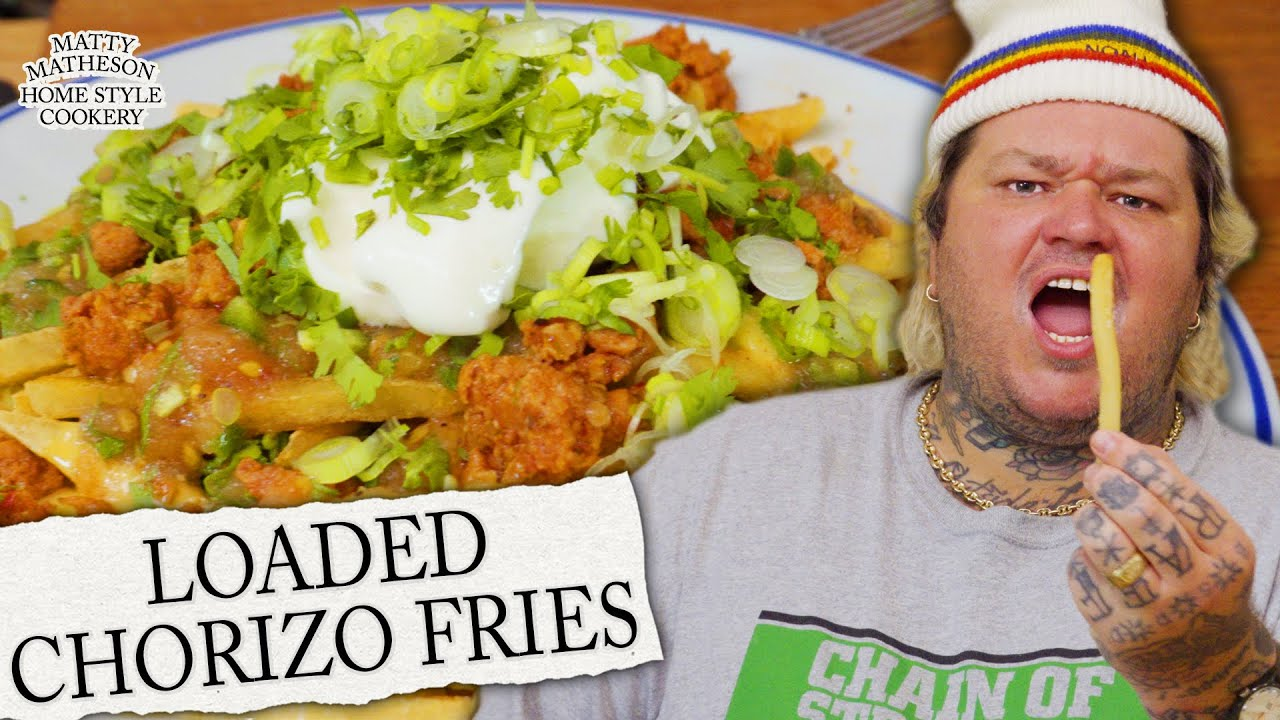 Hot Dog Poutine, Loaded Fries, & Seafood Pie Home Style Cookery with Matty Matheson Ep. 2 HD quality image