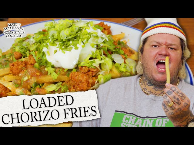 Hot Dog Poutine, Loaded Fries, & Seafood Pie Home Style Cookery with Matty Matheson Ep. 2 HQ quality image