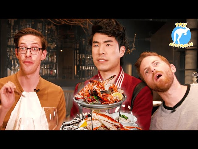 The Try Guys Eat $1,200 Of Gourmet Seafood Try Australia HQ quality image