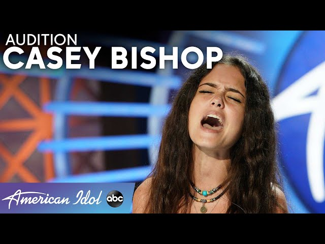 Amazing! Luke Bryan Calls 15-Year-Old Casey Bishop A Massive Star! - American Idol 2021 HQ quality image