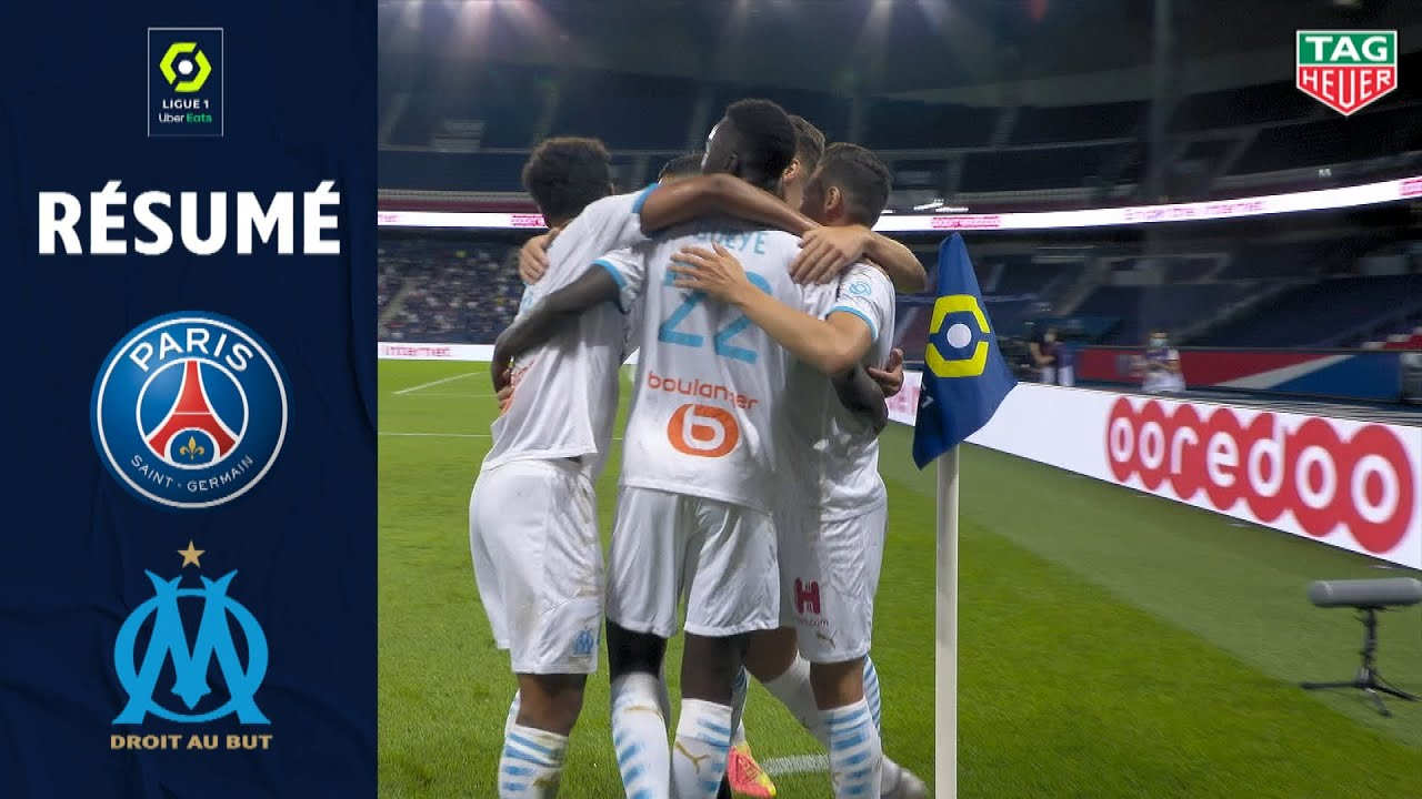 PARIS SAINT-GERMAIN - OLYMPIQUE DE MARSEILLE(0 - 1 ) - Rsum - (PARIS SG - OM) / 2020/2021 HD quality image