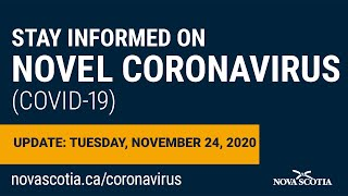 Update COVID-19 for Nova Scotians: Tuesday November 24 Screenshot