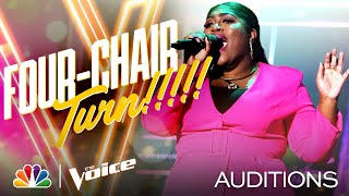 Tamara Jade Performs Lizzos Cuz I Love You and Gets a Four-Chair Turn - The Voice Blind Auditions MD quality image