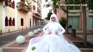 Beirut explosion rocks bride's photoshoot Screenshot