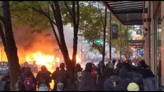 WATCH: Violent protests in downtown Seattle Saturday after rally over George Floyd's death Screenshot