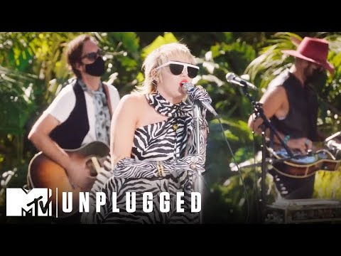 Miley Cyrus & The Social Distancers Perform Gimme More Miley Cyrus Backyard Sessions MQ quality image