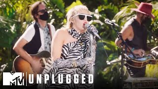 Miley Cyrus & The Social Distancers Perform Gimme More Miley Cyrus Backyard Sessions MD quality image