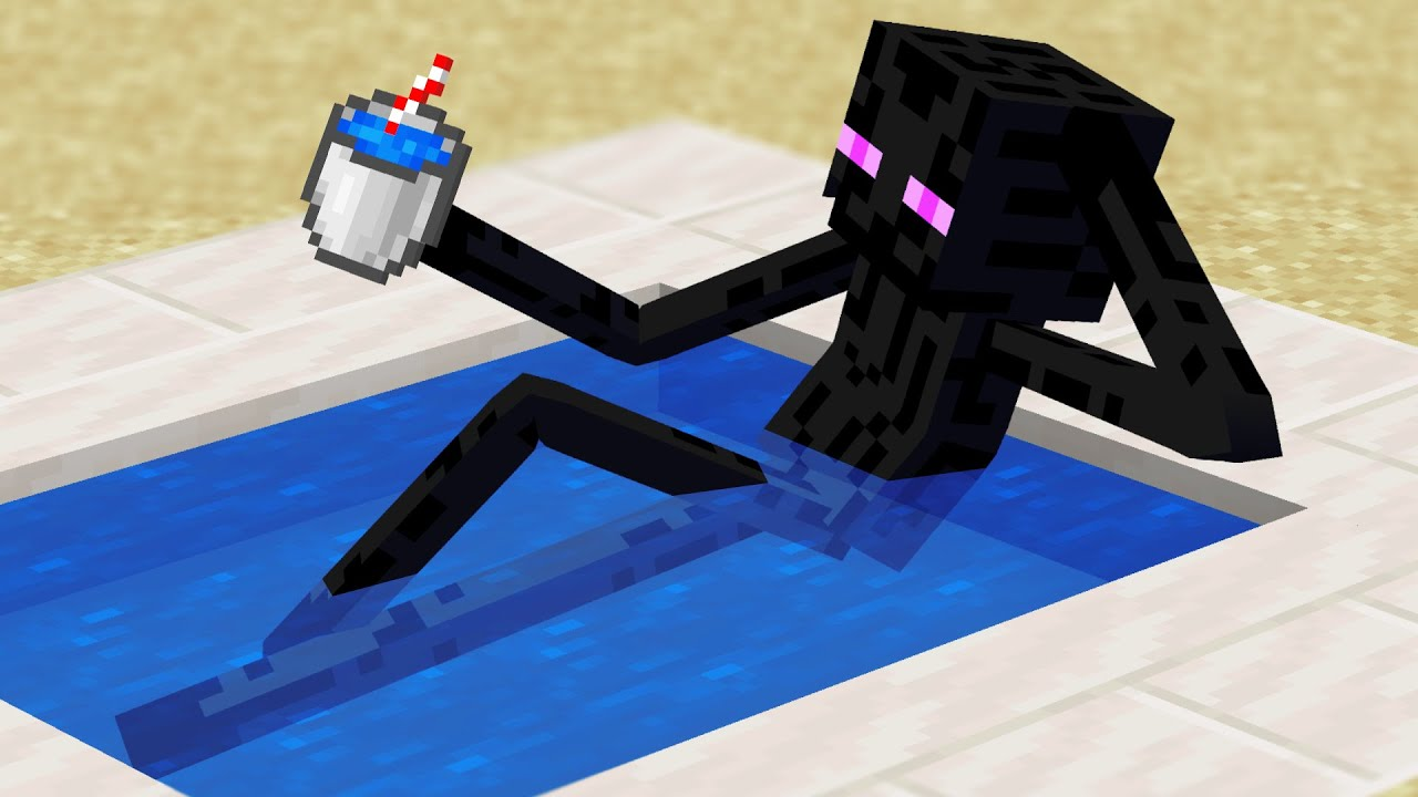 Minecraft Mobs when you log off... HD quality image