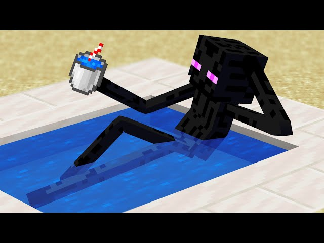 Minecraft Mobs when you log off... HQ quality image