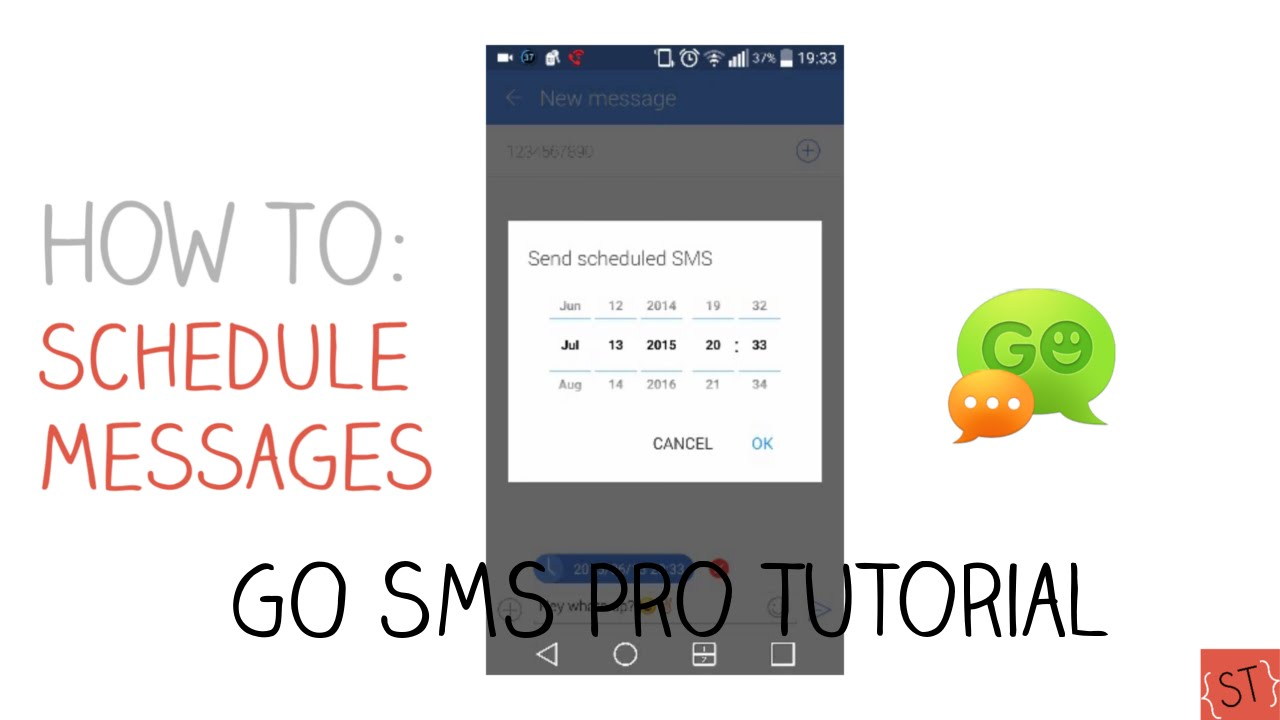 How to Schedule Text Messages #3 (GO SMS Pro) - 2015 SoleilTech HD quality image