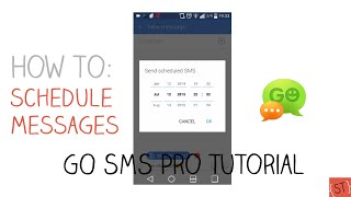 How to Schedule Text Messages #3 (GO SMS Pro) - 2015 SoleilTech MD quality image