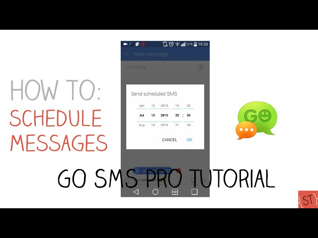 How to Schedule Text Messages #3 (GO SMS Pro) - 2015 SoleilTech HQ quality image