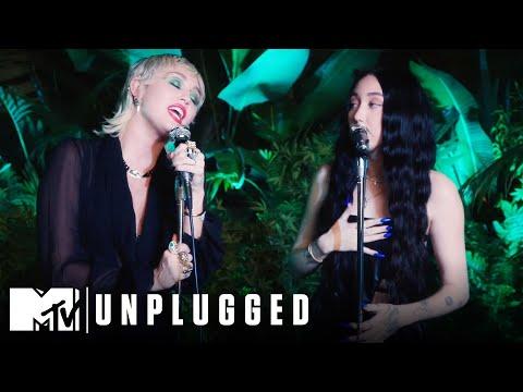 Miley Cyrus ft. Noah Cyrus Perform I Got So High That I Saw Jesus Miley Cyrus Backyard Sessions MQ quality image