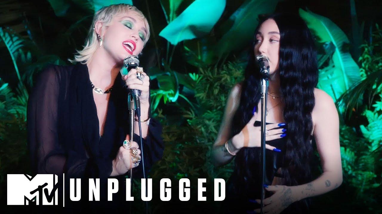 Miley Cyrus ft. Noah Cyrus Perform I Got So High That I Saw Jesus Miley Cyrus Backyard Sessions HD quality image