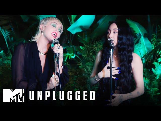 Miley Cyrus ft. Noah Cyrus Perform I Got So High That I Saw Jesus Miley Cyrus Backyard Sessions HQ quality image