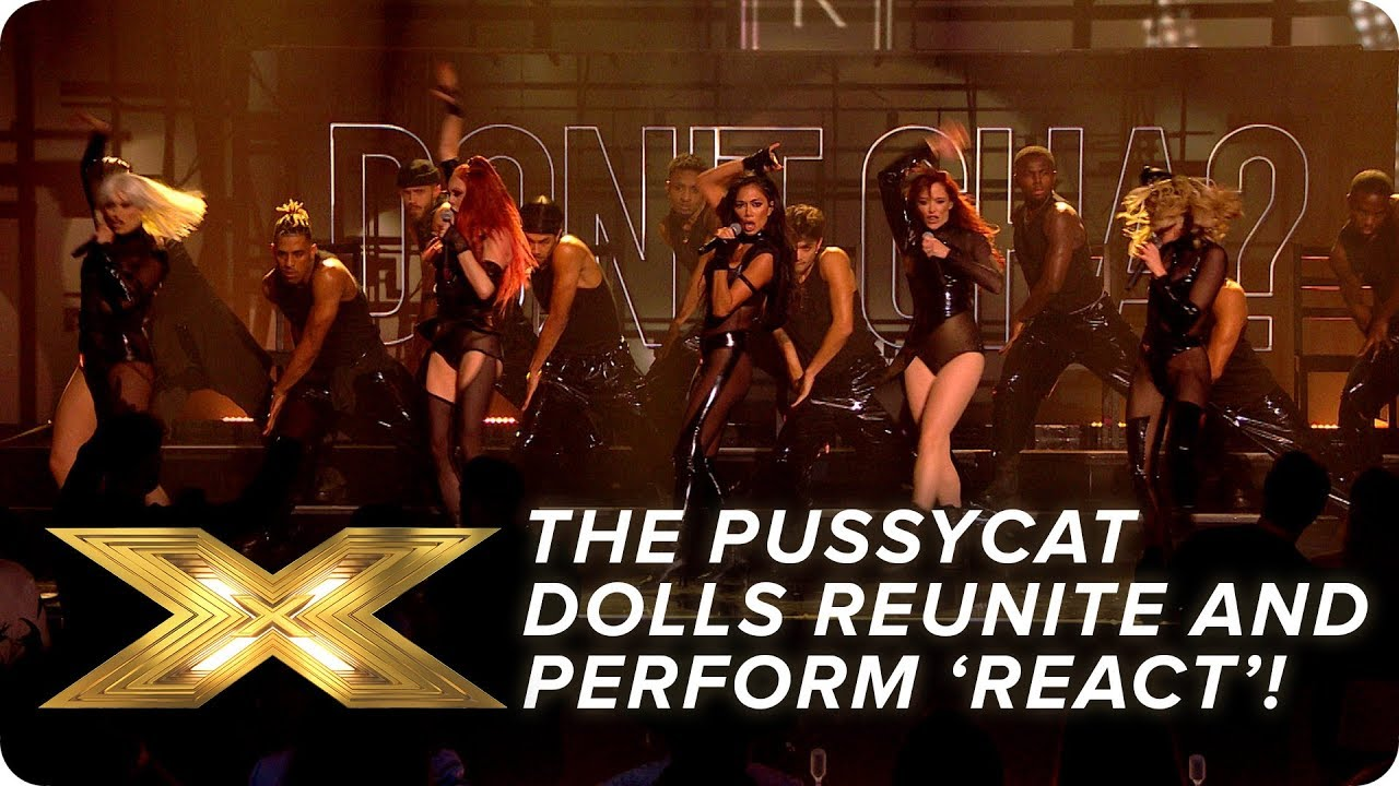 The Pussycat Dolls REUNITE and perform new song 'React'! Final X Factor: Celebrity HD quality image
