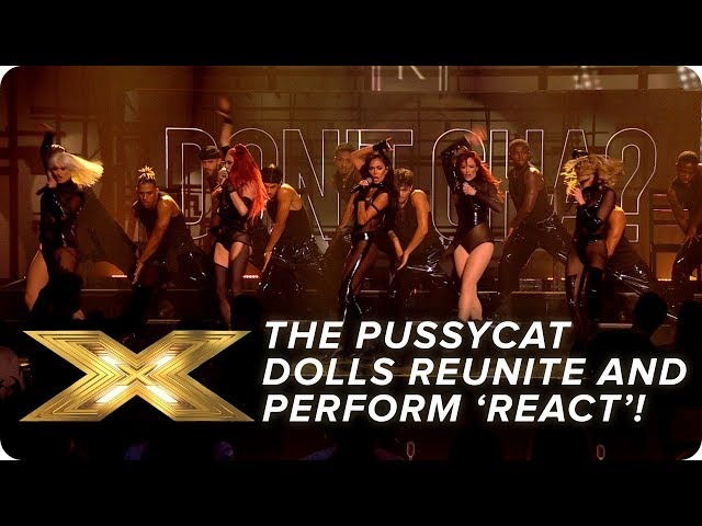 The Pussycat Dolls REUNITE and perform new song 'React'! Final X Factor: Celebrity HQ quality image
