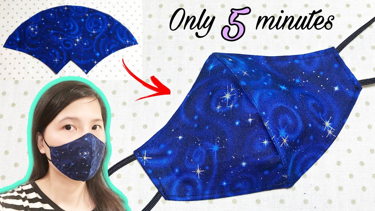 It only takes 5 minutes to sew a simple mask Face mask sewing tutorial DIY face mask at home HD quality image