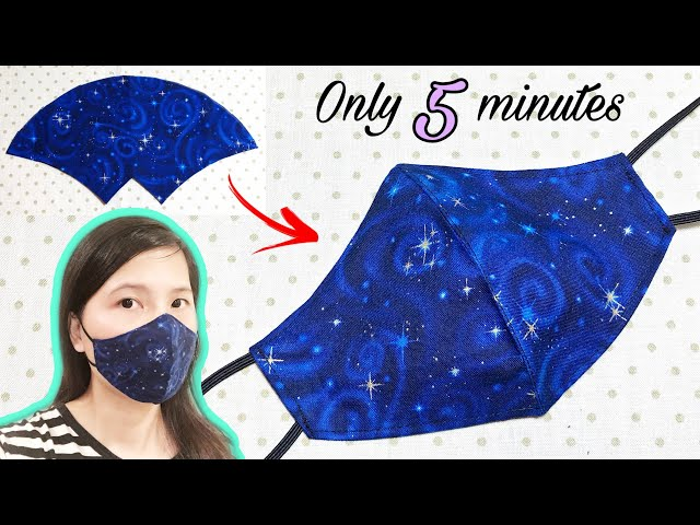It only takes 5 minutes to sew a simple mask Face mask sewing tutorial DIY face mask at home HQ quality image