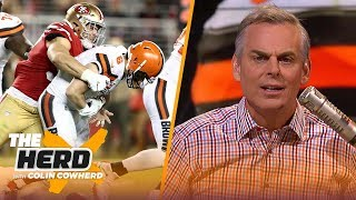 Colin reacts to Browns' 31-3 shellacking by the 49ers & says team should trade OBJ NFL THE HERD MD quality image
