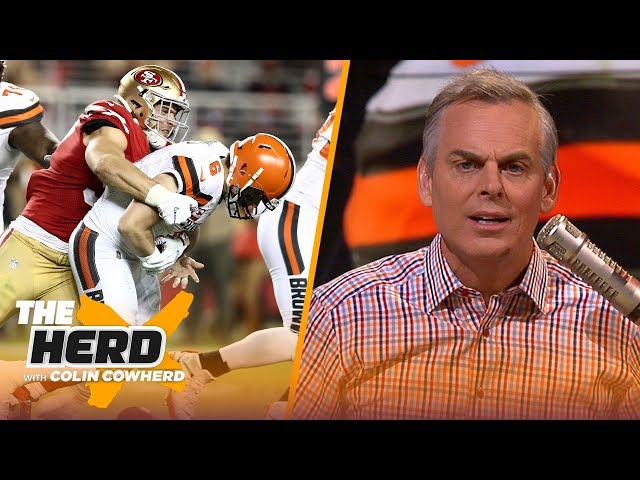Colin reacts to Browns' 31-3 shellacking by the 49ers & says team should trade OBJ NFL THE HERD HQ quality image