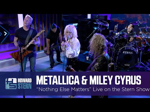 Miley Cyrus and Metallica Nothing Else Matters Live on the Stern Show MQ quality image
