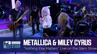 Miley Cyrus and Metallica Nothing Else Matters Live on the Stern Show MD quality image