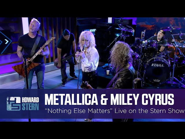 Miley Cyrus and Metallica Nothing Else Matters Live on the Stern Show HQ quality image