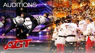 Golden Buzzer: World Taekwondo Demonstration Team Shocks the Judges - America's Got Talent 2021 Screenshot