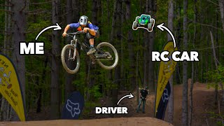 What could go wrong? Riding mountain bikes with an RC car MD quality image