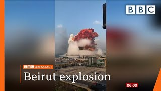 Beirut blast: Lebanon in mourning after massive explosion - Top stories this morning - BBC Screenshot