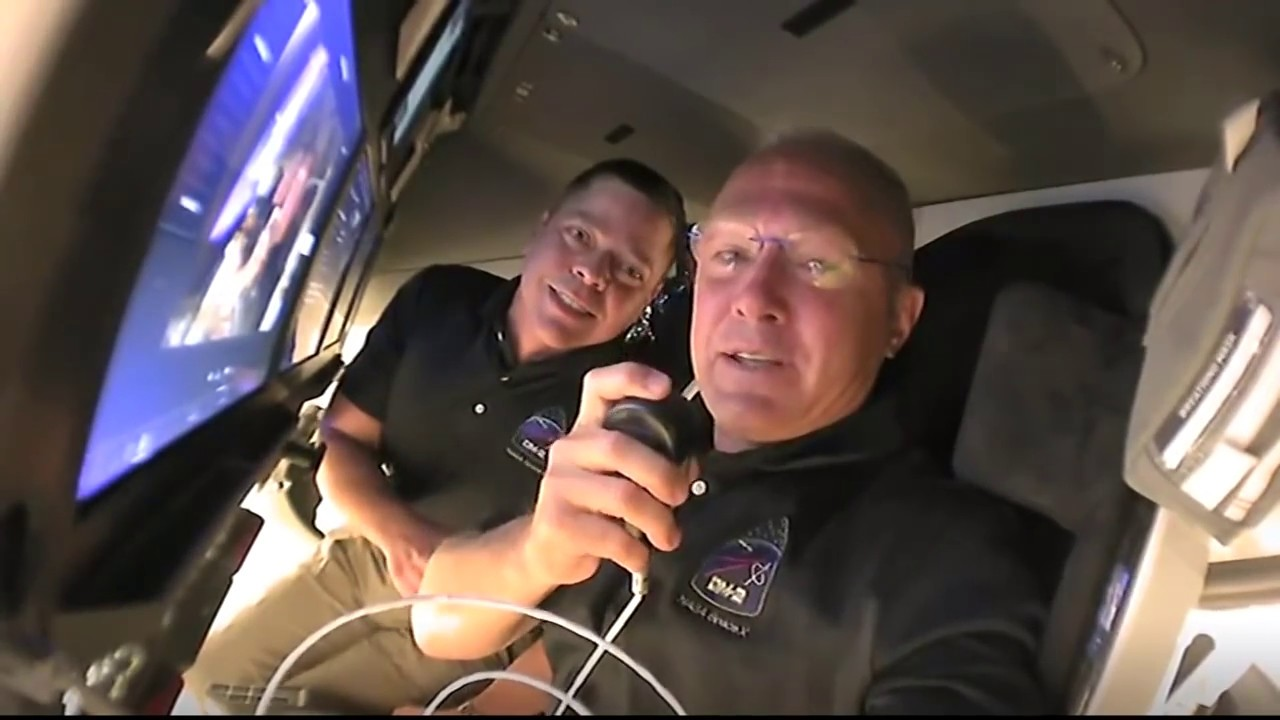 Tour from Space: Inside the SpaceX Crew Dragon Spacecraft on Its Way to the Space Station HD quality image