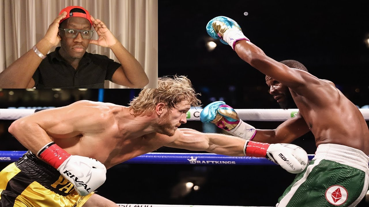 Deji Reacts To Logan Paul Vs Floyd Mayweather HD quality image