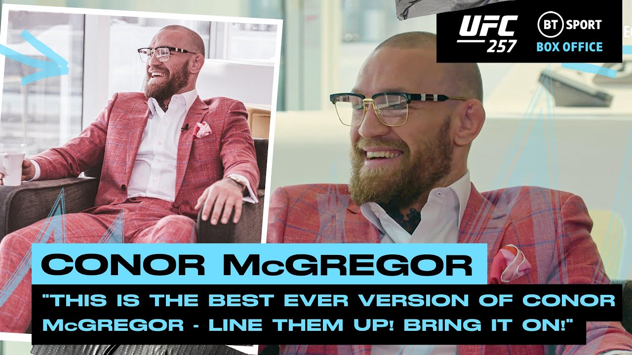 Line them up! Bring it on! Conor McGregor ready to takeover the lightweight division UFC 257 HD quality image