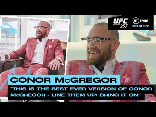 Line them up! Bring it on! Conor McGregor ready to takeover the lightweight division UFC 257 HQ quality image