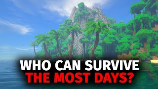 Whoever Can Survive The Most Days On A Deserted Island In Minecraft Wins Screenshot