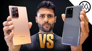 Samsung Galaxy Note 20 Ultra vs Galaxy S20 Ultra. Screenshot