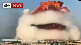 RAW VIDEO: Beirut blast caught on camera Screenshot
